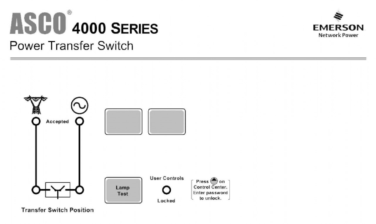 Asco 4000 Manual Transfer Switch (1Ph, 150A)