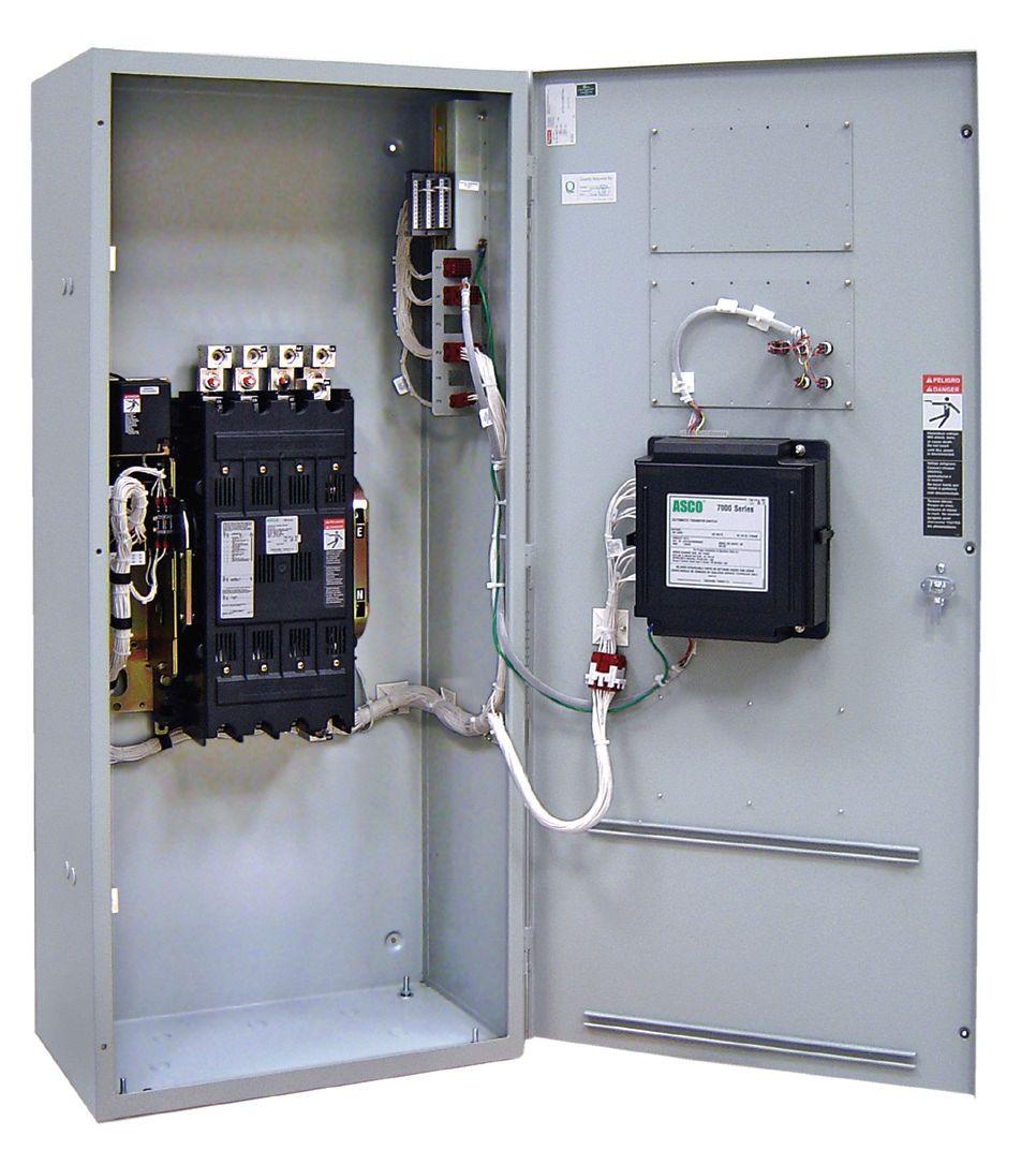 Asco 7000 Manual Transfer Switch (3Ph, 30A)
