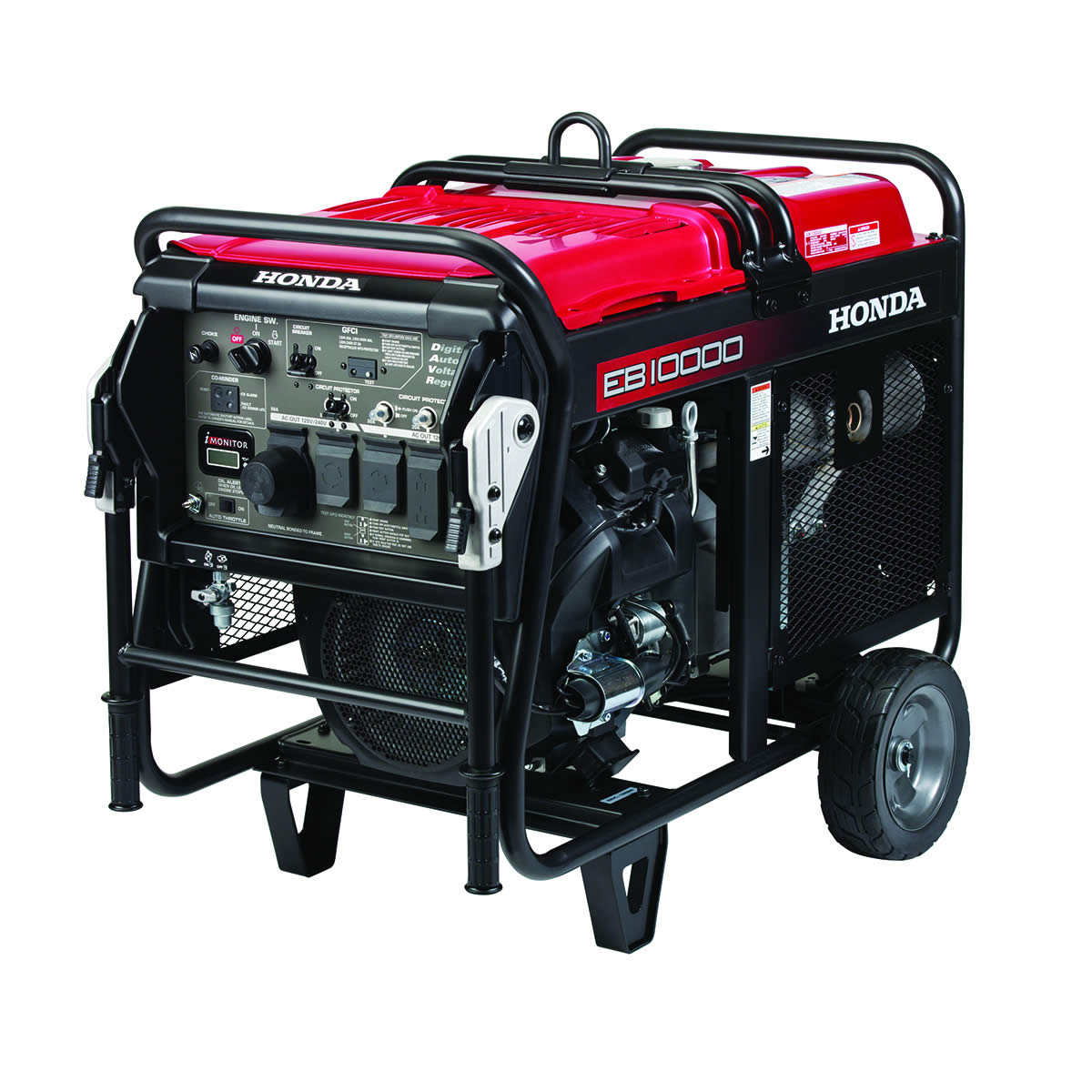This generator is for temporary power for constructions sites.