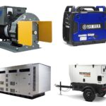 A collection of different generators, part of Coffman Electrical Equipment Company's wide selection of electrical equipment for sale.
